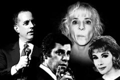Die US-Comedians Jerry Seinfeld, Jerry Lewis, Maria Bamford und Joan Rivers