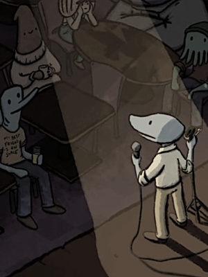 Szene aus dem Videospiel Clam Man 2: Open Mic