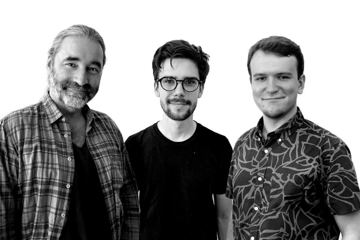 Die Comedy-Autoren Tommy Krappweis, Robert Sladeczek und Albert Bozesan