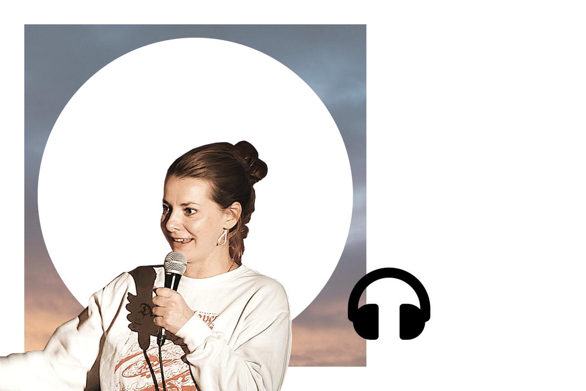 Stand-up-Comedienne Kristina Bogansky