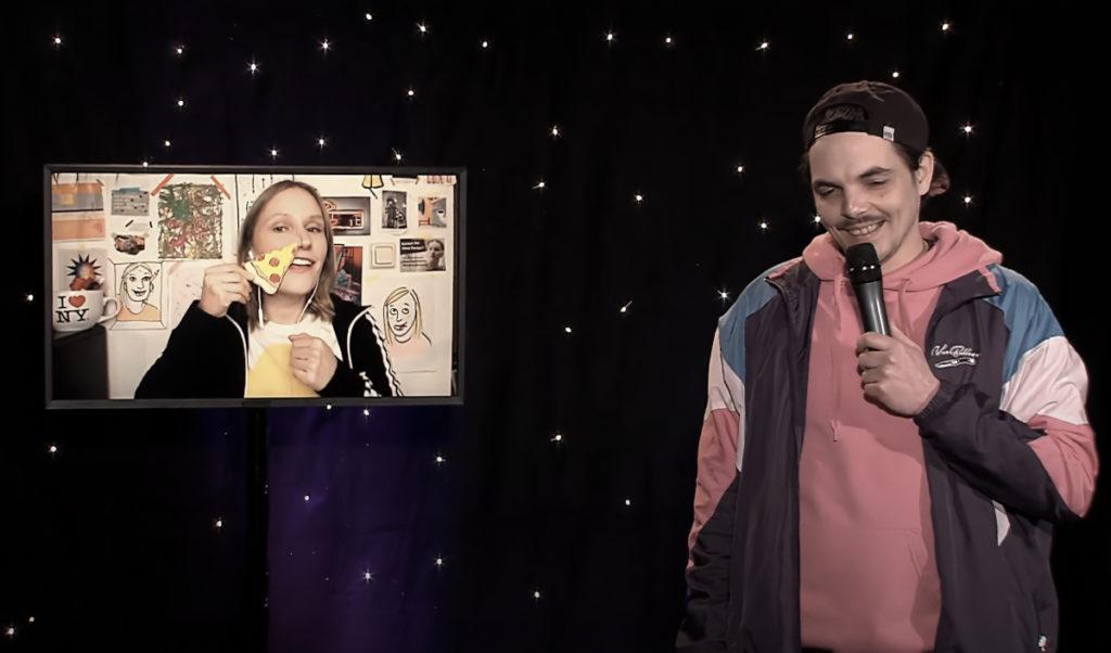 Ingrid Wenzel und Kalle Zilske bei Kusskuss Komedy Digital