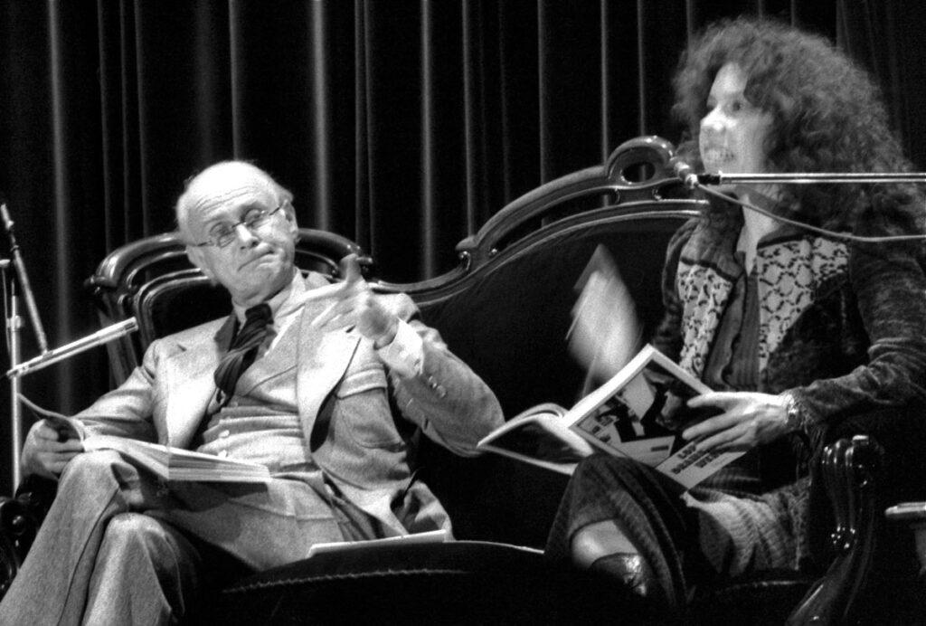 Loriot und Evelyn Hamann Anfang der 1980er Jahre auf einer Lesung in Dortmund
