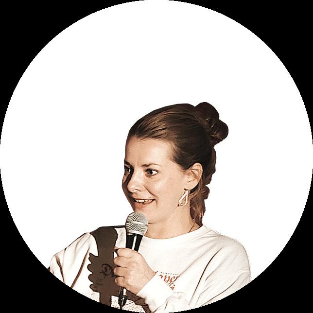 Comedienne Kristina Bogansky