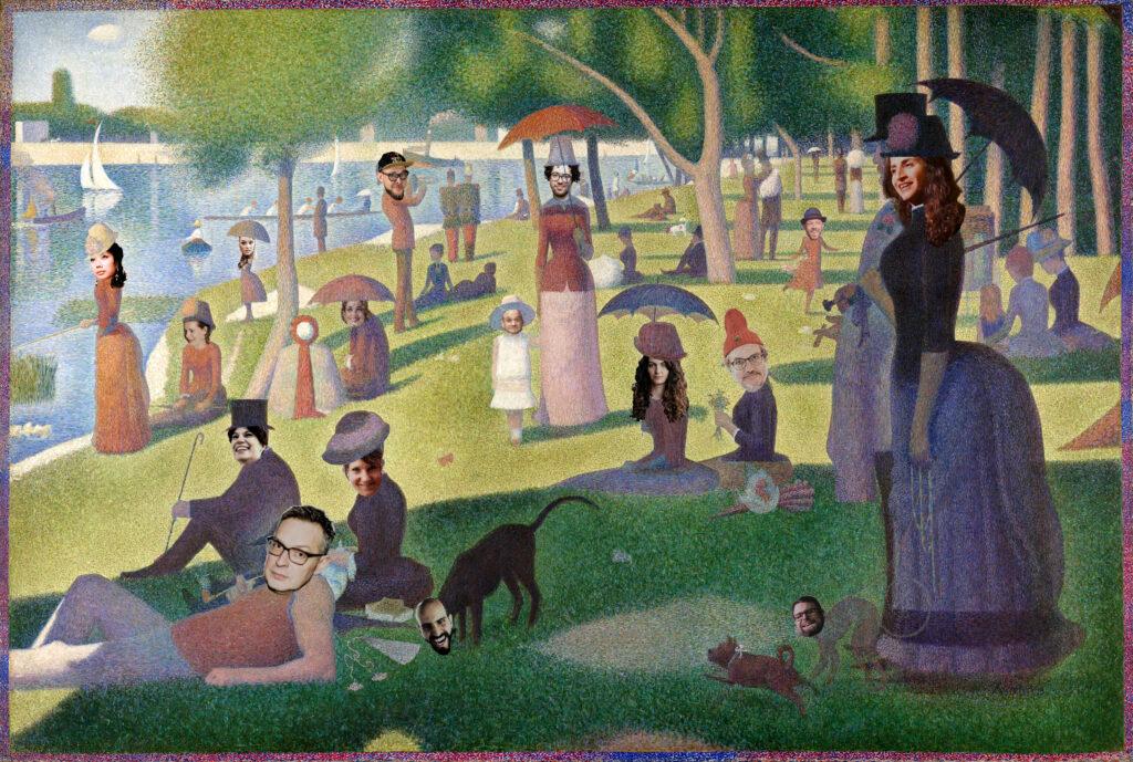 Ein Sonntagnachmittag auf der Insel La Grande Jatte von Georges Seurat